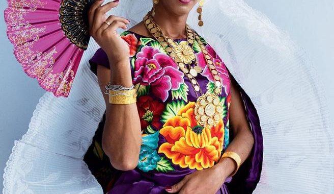 Estrella, muxe de Juchitán, protagoniza la portada de Vogue(Instagram @Voguemexico)
